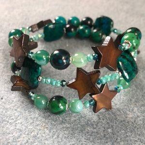 Jewelry - ⭐️ green azurite chrysocolla Star bracelet